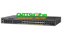 WS-C2960X-24PSQ-L Cisco Catalyst 2960X 24 Ports PoE+, 2xSFP 2x1GBT LAN Base