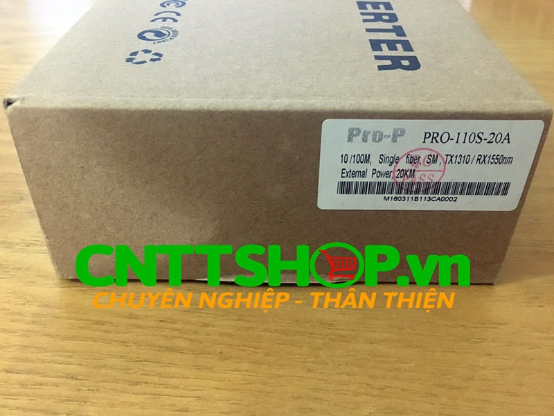 PRO-110S-20A Media Converter 10/100M, SMF, TX1310/RX1550 nm, 20KM | Image 4