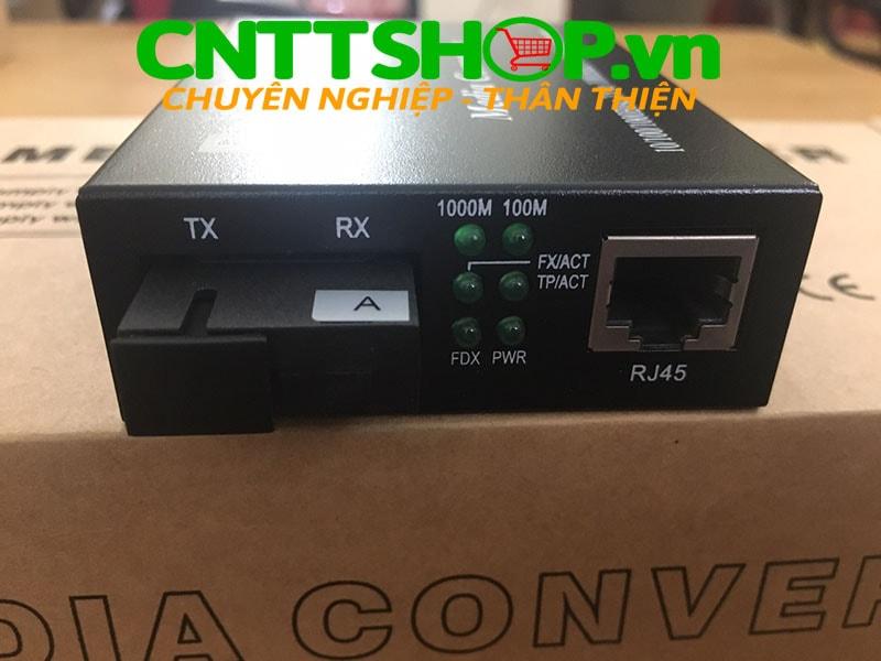 PRO-210S-20A Media Converter  10/100/1000, SMF, TX1310/RX1550nm, 20KM | Image 1