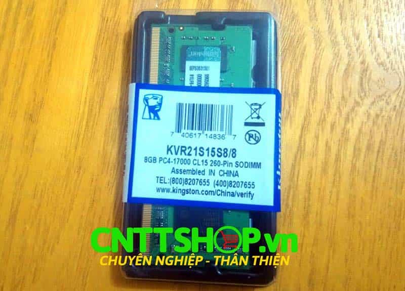 RAM Laptop Kingston KVR21S15S8/8 8GB DDR4-2133Mhz PC4-17000