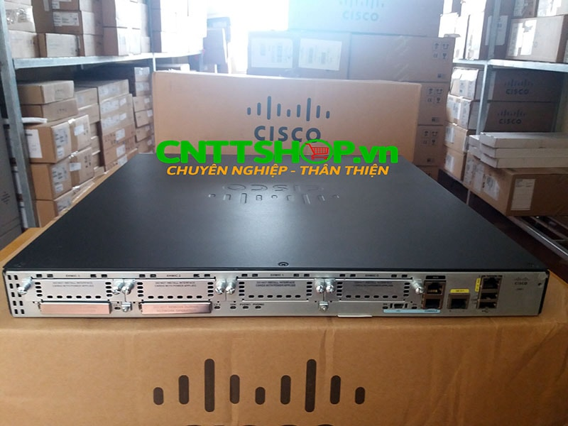 Router Cisco C2901-VSEC-SRE/K9 2901, SRE 300, PVDM3-16, UC and SEC License PAK bundle