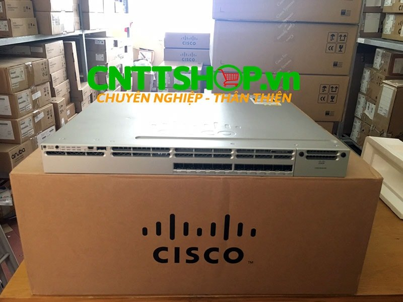 Switch Cisco WS-C3850-12S-E Stackable 12 SFP Ports IP Services | Image 1