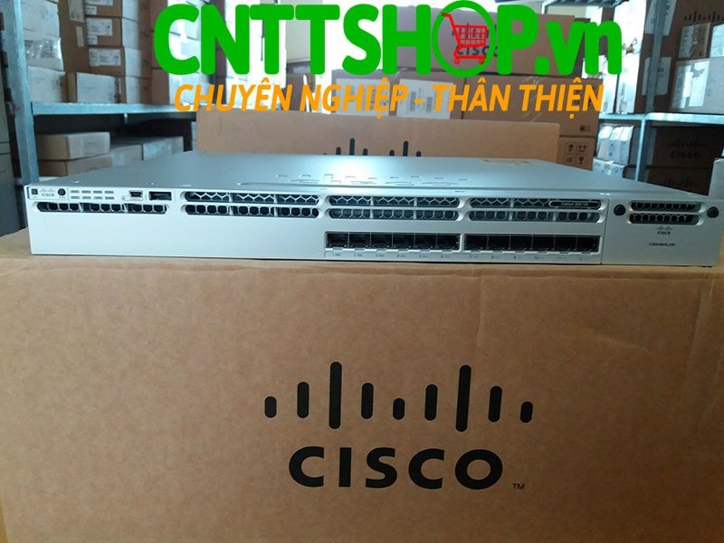 Switch Cisco WS-C3850-12S-S Stackable 12 SFP Ports IP Base | Image 1