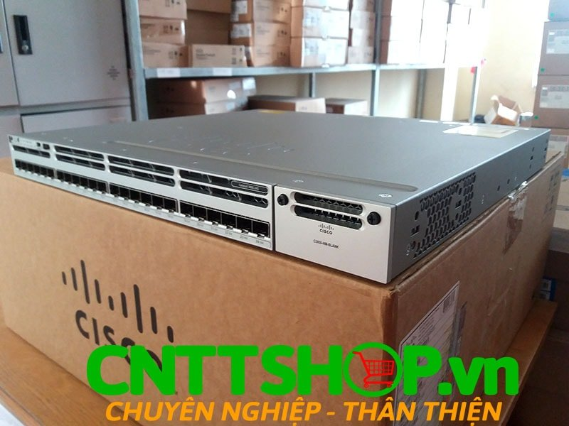 Switch Cisco WS-C3850-24S-S Stackable 24 SFP Ports IP Base | Image 1