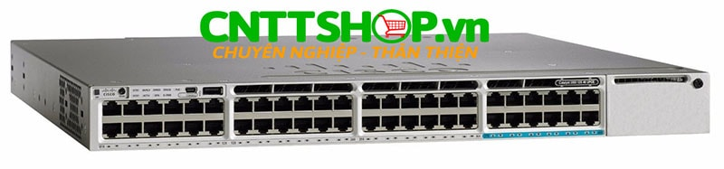 Switch Cisco WS-C3850-12X48U-S Stackable 48 10/100/1000 with 12 100Mbps/1/2.5/5/10 Gbps UPOE IP Base
