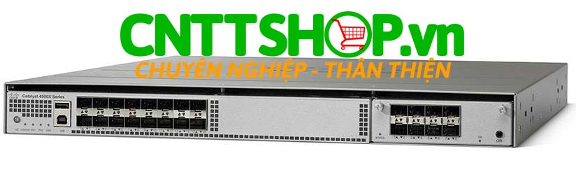 Switch Cisco WS-C4500X-24X-ES Catalyst 4500-X 24 Port 10GE Enterprise Services, Front-to-Back Cooling, No P/S
