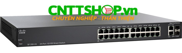 Switch Cisco SLM224GT-EU 24 ports 10/100 PoE 180W, 2 combo mini-GBIC ports