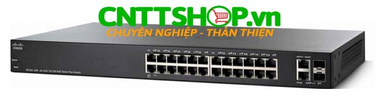 Switch Cisco  SG250X-24P-K9 24 Ports PoE+ 195W, 4 x 10 Gigabit Ethernet (2 x 10GBase-T + 2 x SFP+)