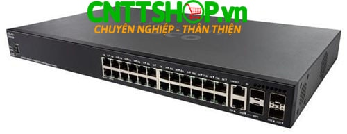 Switch Cisco SG350X-24MP 24 x 10/100/1000 Ports PoE+ 382W, 4 x 10 GE (2 x 10GBase-T/SFP+ combo + 2 x SFP+)