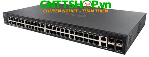 Switch Cisco SG350X-48 48 x 10/100/1000 Ports, 4 x 10 Gigabit Ethernet (2 x 10GBase-T/SFP+ combo + 2 x SFP+)