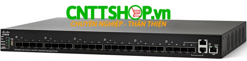 Switch Cisco SG350XG-24F-K9 24x 10 Gigabit Ethernet SFP+, 2 x 10Gbase-T copper port (combo with 2 SFP+)