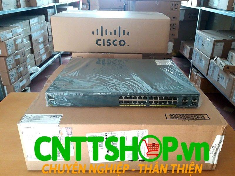 Switch Cisco WS-C2960X-24PS-L 24 GigE PoE 370W, 4 x 1G SFP, LAN Base | Image 1