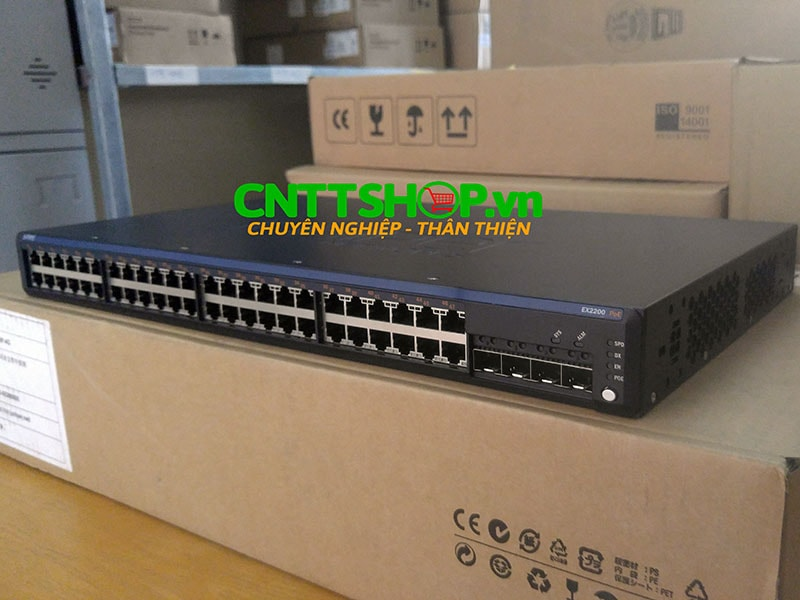 Switch Juniper EX2200-48P-4G 48 Ports 10/100/1000BASE-T Ethernet Switch with PoE+ and 4 GE SFP  uplink ports
