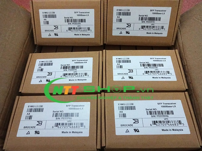 Module quang Brocade E1MG-BXD 1000Base-BXD SFP optic  TX1490nm/RX1310nm, LC connector 10km Single Mode Transceiver