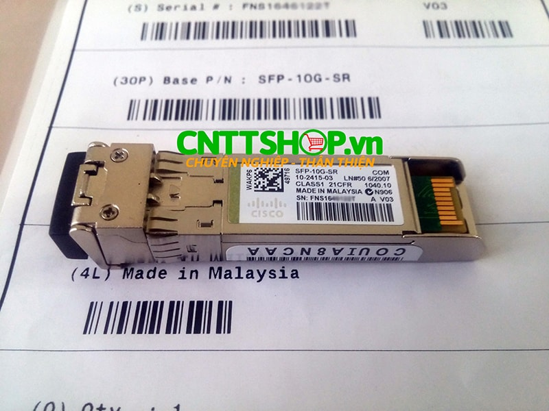 Module quang Cisco SFP-10G-SR SFP+ for MMF, 850-nm, LC Duplex, 300m   Image 1