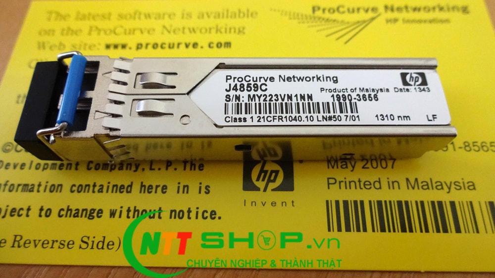 Module quang HPE J4859C X121 1000BASE-LX SFP LC Duplex 1310nm 10km on Single Mode and 550m on Multi mode Transceiver
