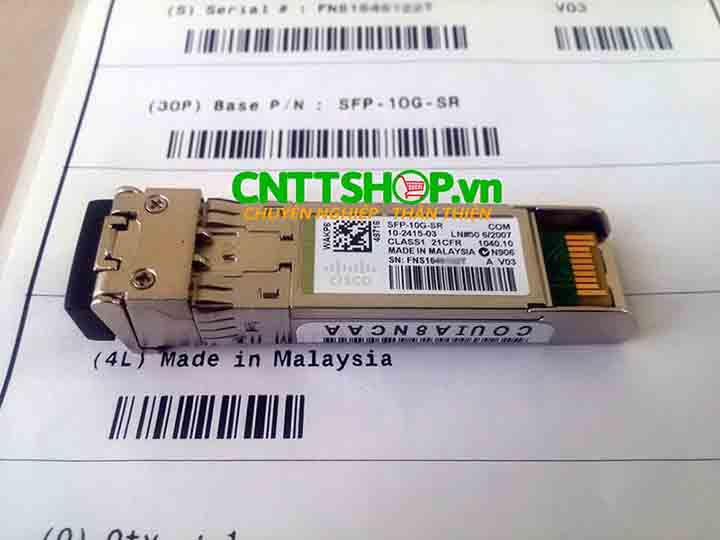 Cisco SFP-10G-SR SFP+ for MMF 850-nm LC Duplex 300m | Image 1