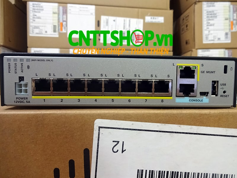 ASA5506-K9 Cisco ASA 5506-X with FirePOWER services, 8GE Data, 1GE Mgmt, AC, 3DES/AES | Image 2