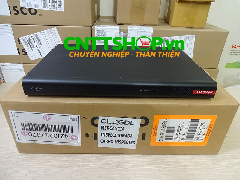 ASA5508-K9 Cisco ASA 5508-X with FirePOWER services, 8GE Data, 3DES/AES | Image 1