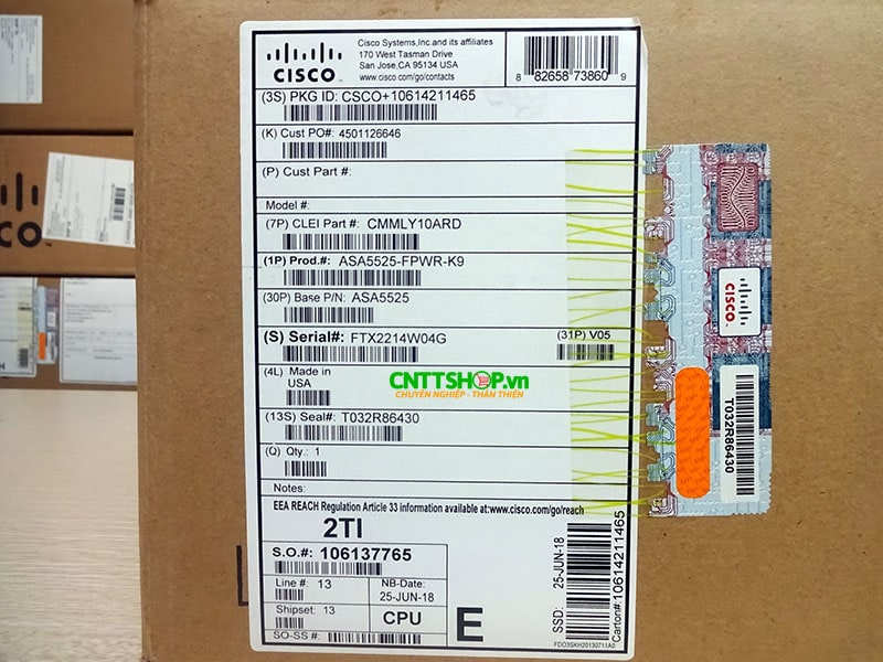 ASA5525-FPWR-K9 Cisco ASA 5525-X with FirePOWER, 8GE data, 3DES/AES, SSD | Image 7