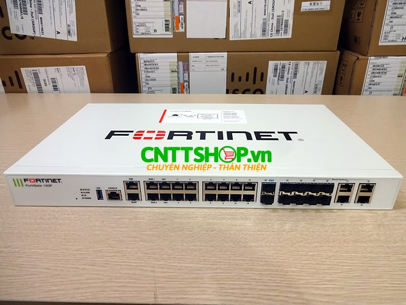 Tường lửa Firewall Fortinet FG-100F FortiGate 100F with Multiple GE RJ45, GE SFP and 10GE SFP+ slots