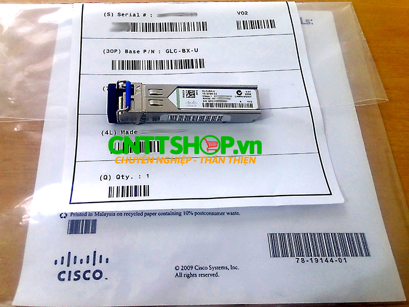 Cisco GLC-BX-U SMF 1310TX 1490RX Single LC 10KM | Image 4