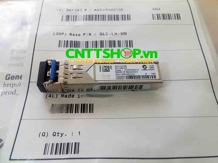 Cisco GLC-LH-SM SFP 1000BASE-LH, SMF, 1310nm, 10KM | Image 1
