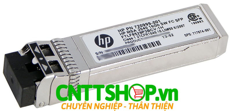HPE 717874-001 MSA 16Gb Short Wave Fibre Channel SFP+ 4-pack Transceiver