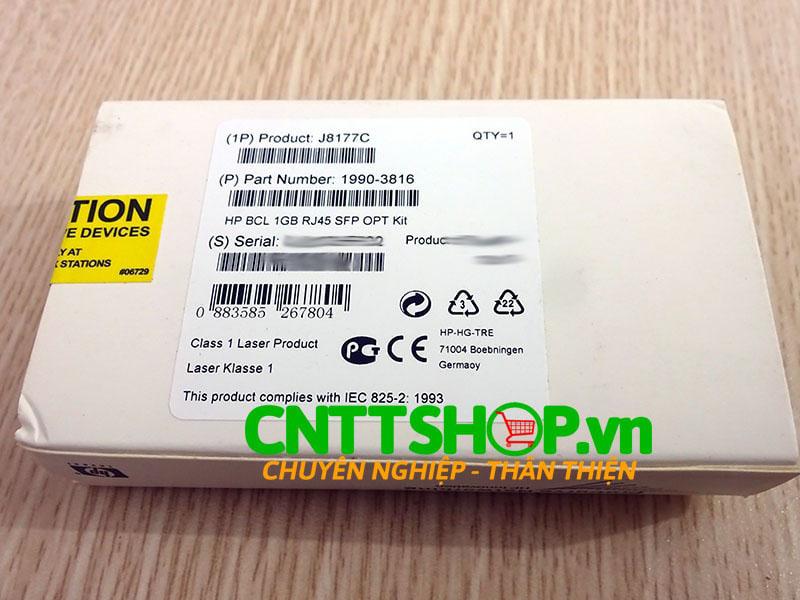Module quang HPE J8177C X121 1000BASE-T SFP RJ45 Transceiver   Image 2