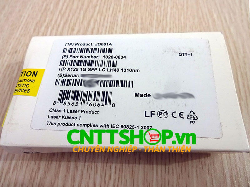 JD061A HPE 1028-0834 X125 1G SFP LC LH40 1310nm 40km Transceiver | Image 2