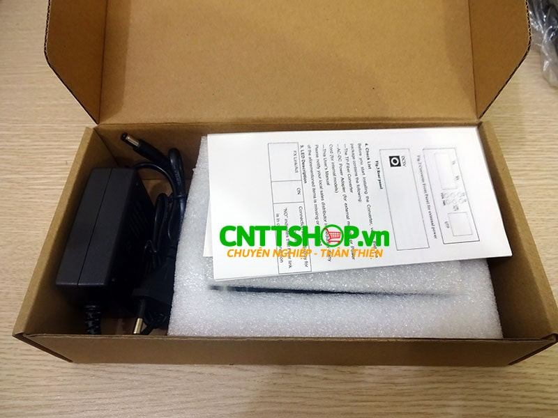PRO-120S-20 Media converter 10/100M Double Fiber , SM , Exernal Power. 20KM   Image 4