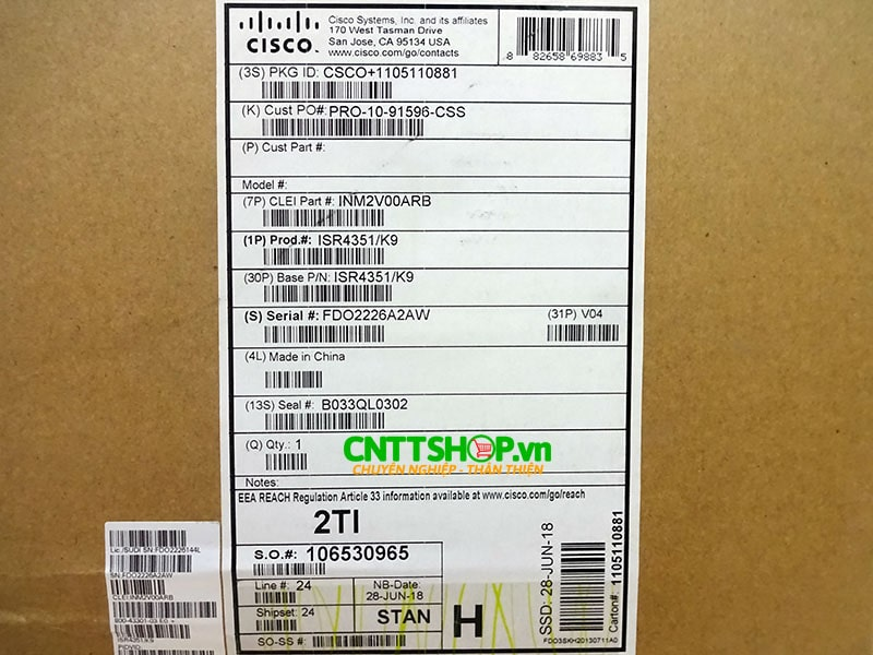 ISR4351/K9 Router Cisco 3 GE, 3 NIM, 2 SM, 4 GB FLASH, 4 GB DRAM | Image 5