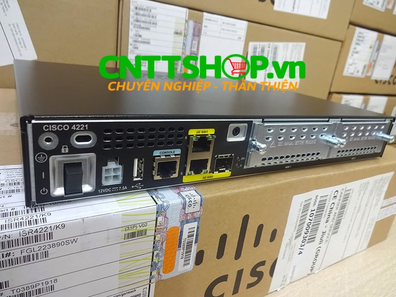 ISR4221/K9 Router Cisco 2GE 2NIM 4G FLASH 4G DRAM IPB | Image 2
