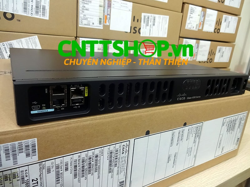 ISR4331/K9 Router Cisco 3 GE, 2 NIM, 1 SM, 4 GB FLASH, 4 GB DRAM | Image 1