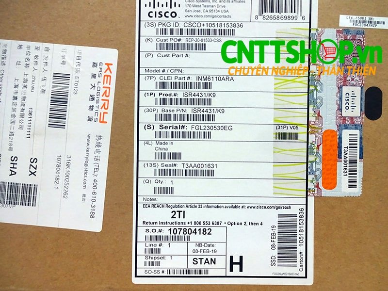ISR4431/K9 Router Cisco 4 GE 3 NIM 8 GB FLASH 2 GB DRAM 4 GB DRAM | Image 6