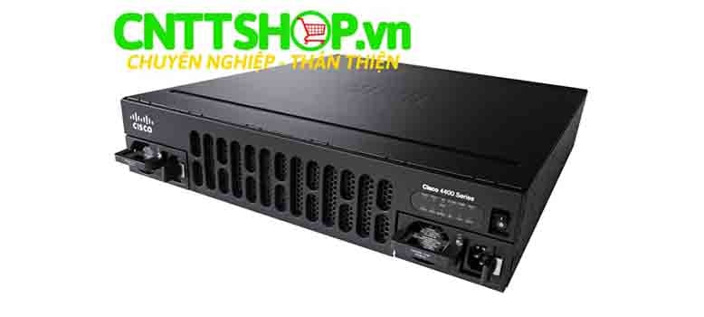 Router Cisco ISR4451-X/K9 (4 GE 3 NIM 2 SM 8 GB FLASH 2 GB DRAM (data plane) 4G DRAM (control plane)