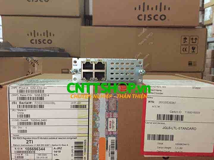 NIM-ES2-4 Router Cisco 4 Port GE Layer 2 LAN Switch NIM Module | Image 1