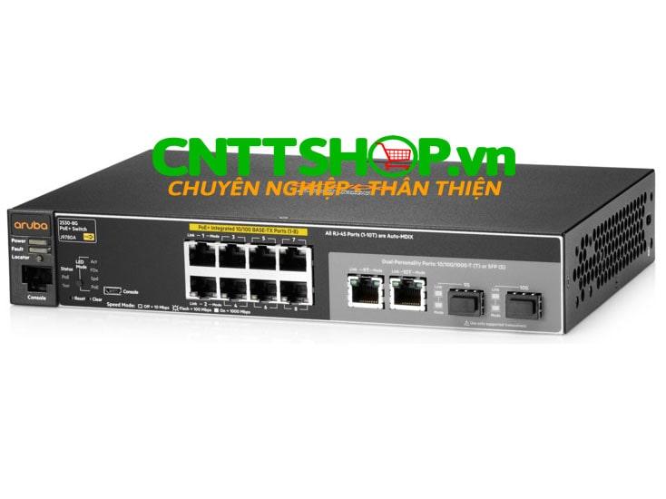 J9780A Switch Aruba 2530 8 Ports 10/100 PoE+ 67W, 2 GE Uplink | Image 1