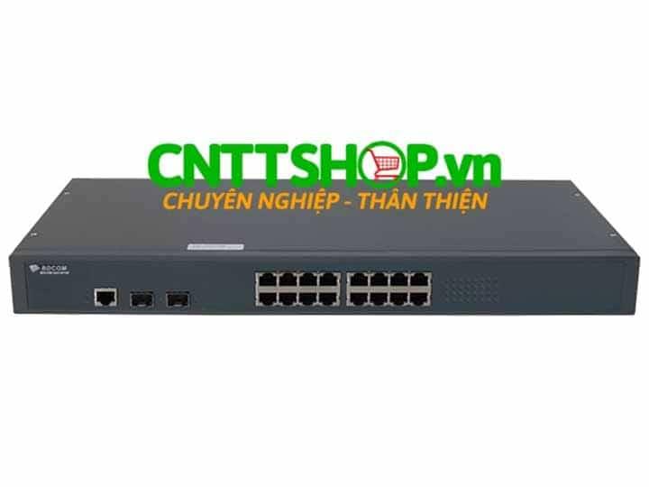 Switch BDCOM S2518POE 16 Gigabit POE Ports 400W, 2 SFP ports | Image 1