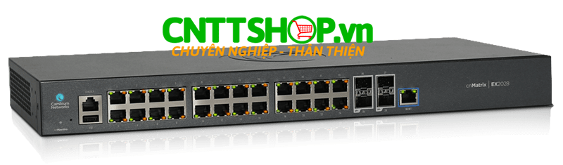 Cambium Switch cnMatrix EX2028 128 Gbps throughput, 24 10/100/1000 ports.
