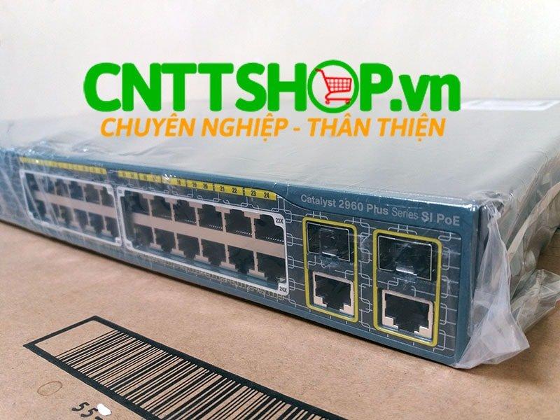 Switch Cisco WS-C2960+24LC-L 24 10/100 (8 PoE) + 2 T/SFP LAN Base | Image 1