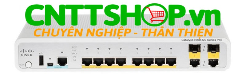 Switch Cisco WS-C3560CPD-8PT-S 3560C PD PSE Switch 8 GE PoE, 2 x 1G Copper Uplink, IP Base