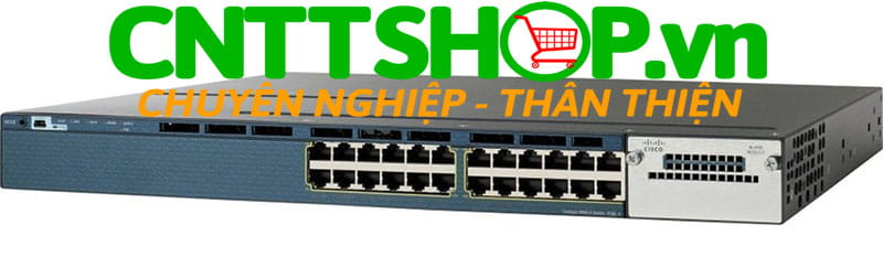 Switch Cisco WS-C3560X-24T-L Catalyst 3560X 24 Port 10/100/1000 Ethernet ports, with 350W AC power supply, LAN Base