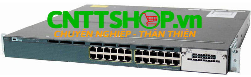 Switch Cisco WS-C3560X-24T-E Catalyst 3560X 24 Port 10/100/1000 Data, with 350W AC power supply, IP Services