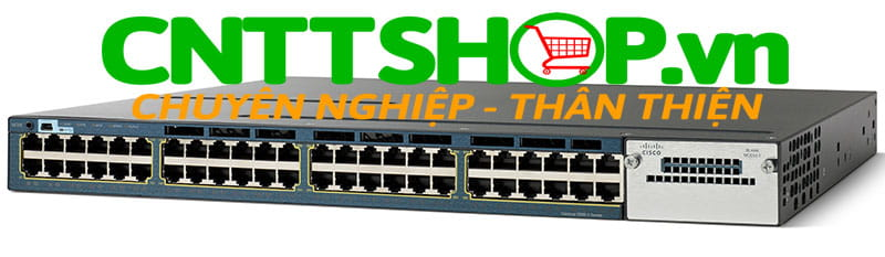 Switch Cisco WS-C3560X-48P-L Catalyst 3560X 48 Port 10/100/1000 Ethernet PoE+ ports, with 715W AC power supply, LAN Base