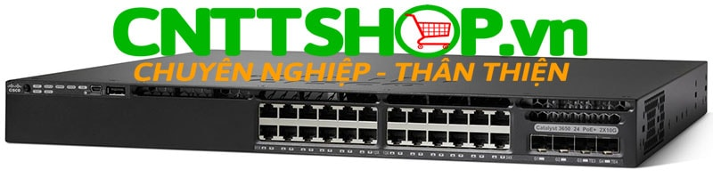 Switch Cisco WS-C3650-24PDM-L 24 10/100/1000 Ethernet PoE+ and 2x10G Uplink ports, 640WAC PSU, LAN Base