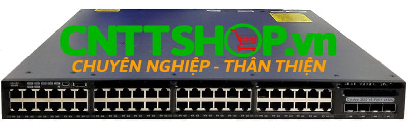 Switch Cisco WS-C3650-48PD-S 48 10/100/1000 Ethernet PoE+ and 2x10G Uplink ports,  640WAC PSU, IP Base