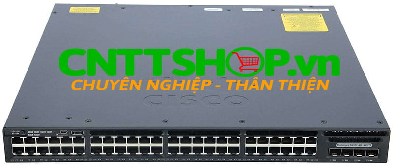 Switch Cisco WS-C3650-48PS-E 48 10/100/1000 Ethernet PoE+ and 4x1G Uplink ports, 640WAC PSU, IP Services