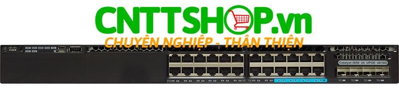 Switch Cisco WS-C3650-8X24UQ-L 24 (16 10/100/1000, 8 100Mbps/1/2.5/5/10 Gbps) UPOE, 4x10G Uplink Ports, 1100WAC PS, LAN Base