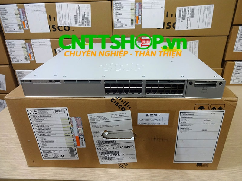 Switch Cisco C9300-24T-E 24 Ports GE, Network Essentials - CNTTShop